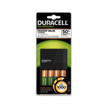 Duracell ION SPEED 1000 Advanced Charger, Includes 4 AA NiMH Batteries (DURCEF14)