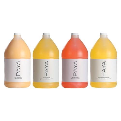 Paya Bath & Body Care Gallon Sampler Case, Citrus + Aloe (4 gallons/case)