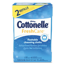 Flushable personal cleansing wipes.