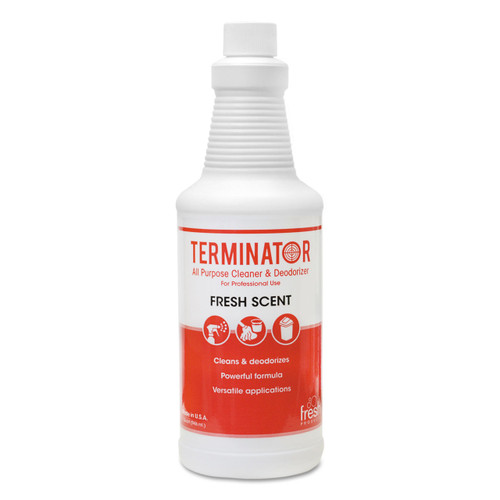 All-purpose cleaner and deodorizer leaves a fresh scent and comes with two trigger srpayers per carton.