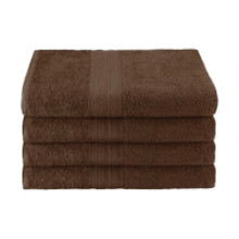 25x52 Ring Spun Bath Towel, Brown, 10.5lb (Monarch-Bath-Brown)
