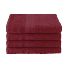 25x52 Ring Spun Bath Towel, Burgundy, 10.5lb (Monarch-Bath-Burgundy)