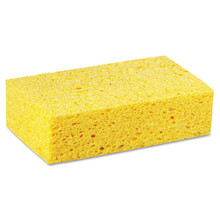 Cellulose sponge is more absorbent than polyurethane sponges.
