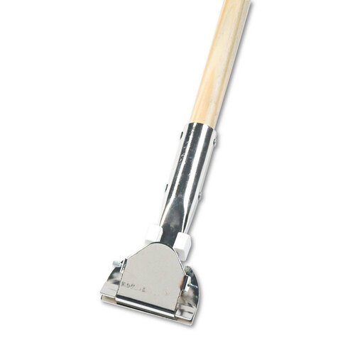 Clip-on dust mop handle.