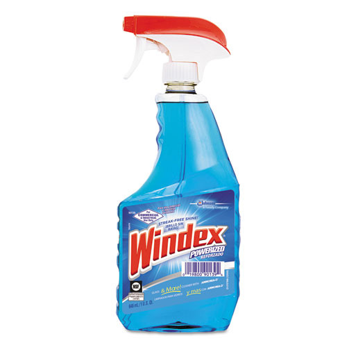 Windex Powerized Glass Cleaner with Ammonia-D, 32oz Trigger Bottle (12 botles/case) (DVO90139CT)