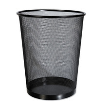 Universal Office Products Mesh Wastebasket, 18qt, Black (UNV20008)