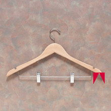Natural Hanger with Clips (100 per case) (L7K66N-WO)