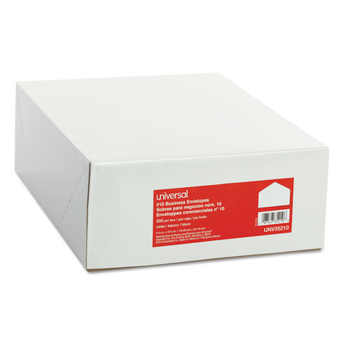 Business Envelope, #10, 4 1/8 x 9 1/2, White, 500/Box
