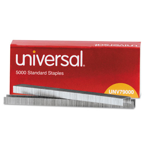 Universal® Standard Chisel Point 210 Strip Count Staples, 5,000/Box