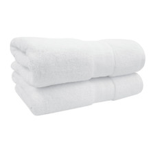 24x48 Bath Towel, White, Durability Series, 8 lbs/dz
