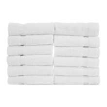 12x12 Washcloth, White, Durability Series, 1 lbs/dz