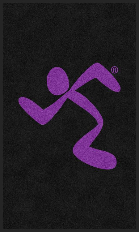 The Andersen Company Anytime Fitness All Purple Running Man Logo Classic Impressions, Vertical Interior Wiper Mat
