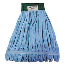 Boardwalk Microfiber Looped-End Wet Mop Head, Medium, Blue