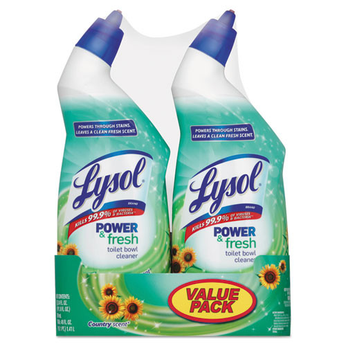 Lysol Toilet Bowl Cleaner Cling Gel, Country Scent, 24 oz, 2 Pack (RAC82890)