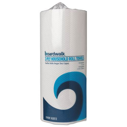 Boardwalk Paper Towel Rolls, Perforated, 2-Ply, White, 85 Sheets/Roll, 30 Rolls/Carton (BWK6272)