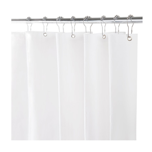 Kenney Manufacturing Heavy Weight PEVA Shower Liner, White (KN61450)