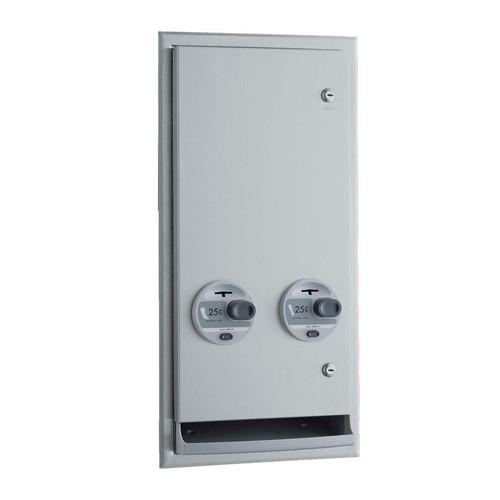Bobrick Napkin/Tampon Dispenser, Push Button Vendor (B-3706)