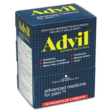 Advil Ibuprofen Tablets, Two-Packs (50 packs/box)