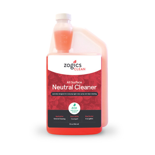 Zogics All Surface Neutral Cleaner, 32 oz (CLNNEC32CN)