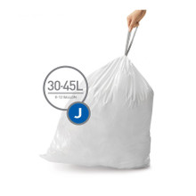 Simplehuman Trash Can Liner, Code J (60 liners/Case) (CW0259)