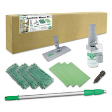 Unger Indoor Window Cleaning Kit, Aluminum, 72""