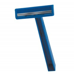 Quality Lightweight Twin Blade Razor, Blue