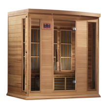 Golden Designs Canadian Red Cedar Low EMF FAR Infrared Sauna, MX-K406-01-RC