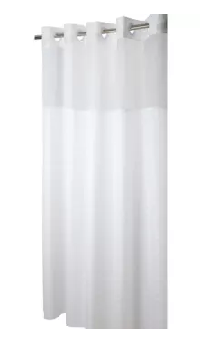 "Hookless Madison Shower Curtain, White, 71"" x 80"""