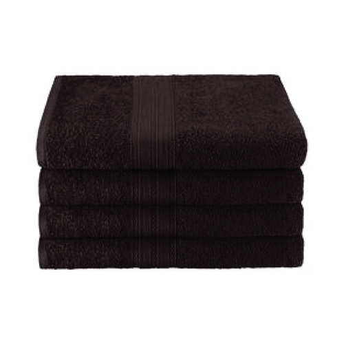 25x52 Ring Spun Bath Towel, Black, 10.5lb (Monarch-Bath-Black)