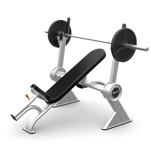 BILT by Agassi & Reyes Incline Bench, Weight Bench, Silver, BCIB01