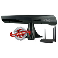 KING Falcon Directional Wi-Fi Antenna with WiFiMax Router / Extender - Black