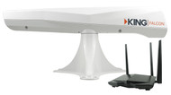 KING Falcon Directional Wi-Fi Antenna with WiFiMax Router / Extender - White