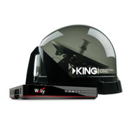 KING One Pro Premium Satellite Antenna Bundle with Wally