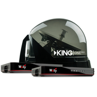 KING One Pro Premium 2 Receiver Satellite Antenna Bundle with Wally