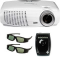 Refurbished Optoma HD25E Full HD 3D 1080p Home Theater Projector Bundle with 2 RF 3D Glasses & Emitter