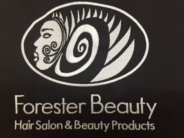 Forester beauty loves Custom Salon Capes!