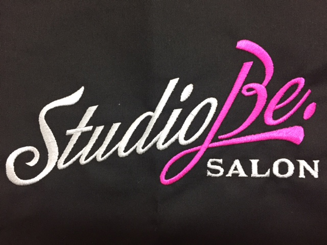 Studio Be salon loves Custom Salon Capes!