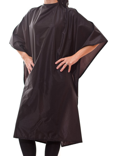 Chemical capes and shampoo capes in black