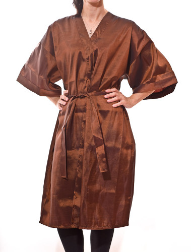 Kimono Salon Smocks and Client Robes in Copper
