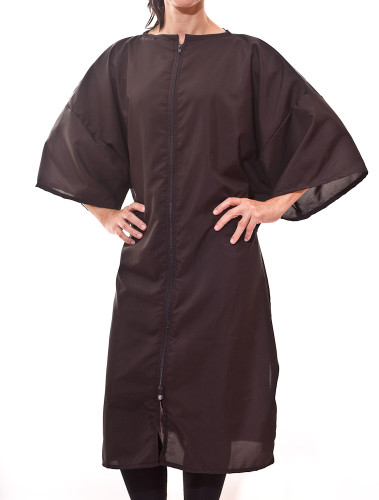 Get factory direct pricing for your Zip Front Robes, Beauty Salon Smocks and Salon Client Gowns and save money now!