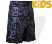 Fumetsu Kids Rampage Fight Shorts Black Grey