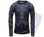 Fumetsu Rampage LS Rash Guard Black Grey
