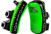 YOKKAO Curved Neon Green Kicking Pads