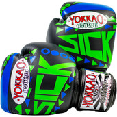 Yokkao Sick Muay Thai Leather Boxing Gloves Blue Green