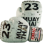 Yokkao Urban Leather Muay Thai Boxing Gloves Grey