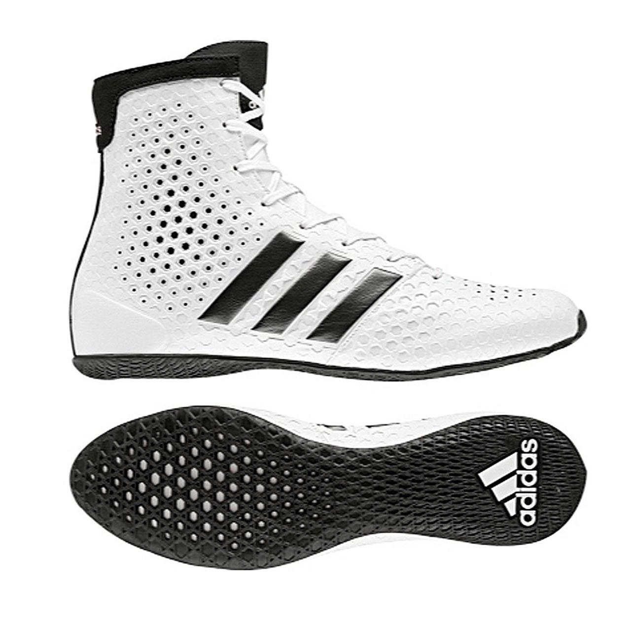 check out eabb8 83ebe Adidas KO Legend 16.1 White Boxing Boots - Martial Art Shop