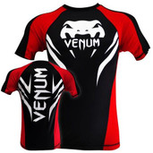 Venum ELectron Short Sleeve Black Red Rash Guard