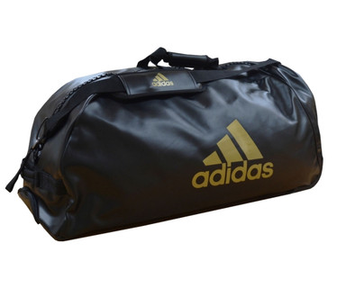 Adidas PU Combat Sports Trolley Bag Black Gold