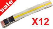 Force White Yellow Stripe 280cm Pack of 12
