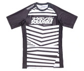 Scramble Dazzle Short Sleeved Rash Guard Black White